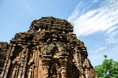 My son Heritage world. My Son Sanctuary is a famous landmark of Quang Nam Province, Vietnam. By UNESCO as world cultural heritage Royalty Free Stock Image