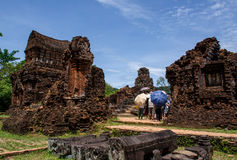 My son Heritage world. My Son Sanctuary is a famous landmark of Quang Nam Province, Vietnam. By UNESCO as world cultural heritage royalty free stock photography