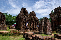 My son Heritage world. My Son Sanctuary is a famous landmark of Quang Nam Province, Vietnam. By UNESCO as world cultural heritage royalty free stock photos
