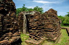 My son Heritage world. My Son Sanctuary is a famous landmark of Quang Nam Province, Vietnam. By UNESCO as world cultural heritage Royalty Free Stock Images