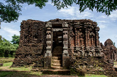 My son Heritage world. My Son Sanctuary is a famous landmark of Quang Nam Province, Vietnam. By UNESCO as world cultural heritage stock image