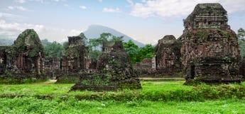 My son hindu ruins royalty free stock images