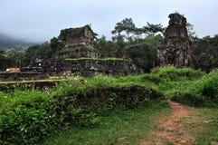 My Son temple ruins, Vietnam. My Son Hindu Shiva Temple, Quang Nam, Vietnam stock photos