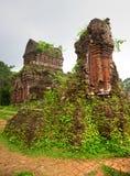 My Son, Hoi An. Vietnam. Ancient Hindu temples in My Son near Hoi An. Vietnam. Unesco World Heritage Site stock photo