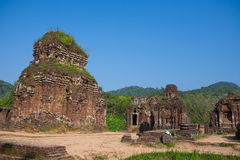 My Son Holy Land. Hindu temples My Son near Hoi An. Vietnam royalty free stock image