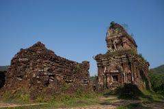 My Son Holy Land. Hindu temples My Son near Hoi An. Vietnam royalty free stock photo