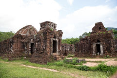 My Son sanctuary is an ancient architectural compl Royalty Free Stock Images