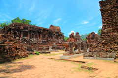 My Son Sanctuary. Is a cluster of abandoned and partially ruined Hindu temples Stock Photography