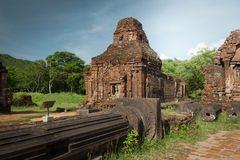 My Son sanctuary ruins in Vietnam royalty free stock images
