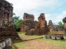 My Son Sanctuary, Vietnam. Remains of Hindu tower-temples at My Son Sanctuary, a UNESCO World Heritage site in Vietnam stock photo