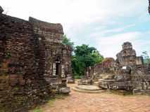 My Son Sanctuary, Vietnam. Remains of Hindu tower-temples at My Son Sanctuary, a UNESCO World Heritage site in Vietnam stock image