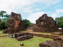 My Son Sanctuary, Vietnam. Remains of Hindu tower-temples at My Son Sanctuary, a UNESCO World Heritage site in Vietnam royalty free stock photos