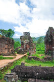 My Son temple complex, Vietnam. My Son Temple complex near Hoi An. Is a ruined Hindu temples constructed between the 4th and the 14th century AD by the kings of Stock Photos