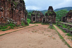 My Son Lost Temple, Vietnam Royalty Free Stock Photography