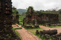 My Son temple ruins. Vietnam Royalty Free Stock Images