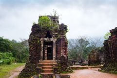 My Son temples in cloudy weather. Vietnam Royalty Free Stock Images