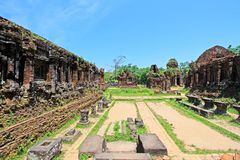 My Son, Vietnam UNESCO World Heritage. My Son is a cluster of abandoned and partially ruined Hindu temples constructed between the 4th and the 14th century. The royalty free stock image