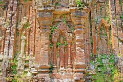 My Son, Vietnam UNESCO World Heritage. My Son is a cluster of abandoned and partially ruined Hindu temples constructed between the 4th and the 14th century. The royalty free stock photos