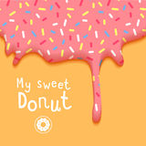 My Sweet Donut Vector Illustration Stock Photos