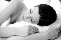 My sweet dreams in my amazing bed Royalty Free Stock Photo