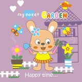 My sweet garden. Vector illustration for children clothes for wallpaper Royalty Free Stock Photo