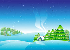 My sweet home. Christmas house. Merry christmas card Stock Images