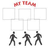 My team scrapbook Stock Photos