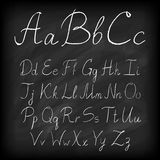 Chalk board alphabet Stock Photos