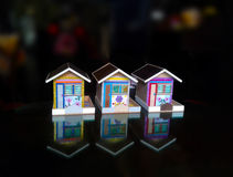 My three coin banks Stock Images