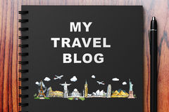 My travel blog Royalty Free Stock Images