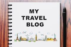 My travel blog Stock Photo