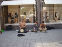 Street musicians in Cologne Stock Image