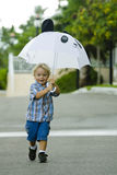 With my umbrella royalty free stock images
