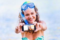 My vacation is awesome Royalty Free Stock Photo