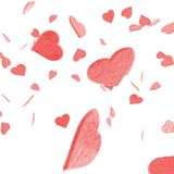 My Valentine Confetti Royalty Free Stock Images