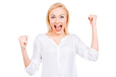 It is my victory! Royalty Free Stock Image
