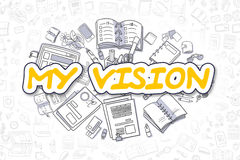My Vision - Doodle Yellow Text. Business Concept. Royalty Free Stock Photo