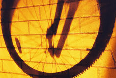 My way,Wheel shadow. It is my way, run away by the Bicycle Stock Images