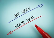 My way and your way Stock Photo