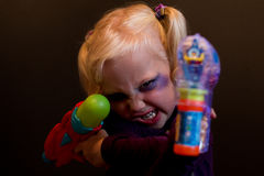 My wee cosplayer Stock Photography