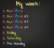 My week Royalty Free Stock Image