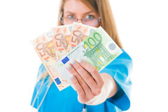 My well deserved money Royalty Free Stock Photography