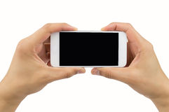 My white phone horizontal Stock Image