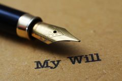 My will. Close up concept of My will Stock Photography