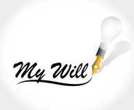 My will message illustration design. Over a white background Royalty Free Stock Photography