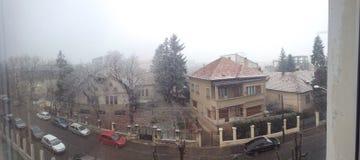My window view panorama. The same local Stock Photo