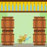 My wine cellar Stock Image