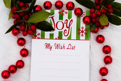 My Wish List royalty free stock photo