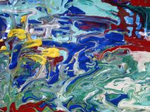 My world. Acrylic painting for digital printing on canvas royalty free stock photos