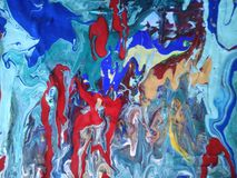 My world. Acrylic painting for digital printing on canvas royalty free stock photography